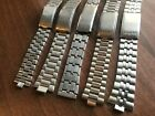 JOB LOT OF x 5 VINTAGE SEIKO STAINLESS STEEL GENTS USED WATCH STRAPS (SL37)