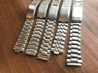 JOB LOT OF x 5 VINTAGE SEIKO STAINLESS STEEL GENTS USED WATCH STRAPS (SL39)