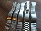 JOB LOT OF x 5 VINTAGE SEIKO STAINLESS STEEL GENTS USED WATCH STRAPS (SL42)