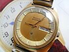 Clean 1970's Men's Bulova Accutron 218 Tuning Fork Day Date Watch Hums 4 REPAIR