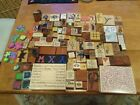 119 Lot of Wood Mounted Rubber Stamps Foam Stamps  Ink Pads Many Themes