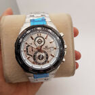 New Old Casio Edifice Tachymeter Chronograph White Dial Mens Watch EF-539D-7AVDF
