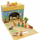 Childrens Christmas Nativity Box Scene with Wooden Figures 89380
