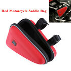 Red Saddle Storage Bag Engine Guard Mount Case Pouch For Motorcycle Motorbike