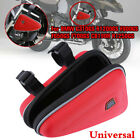 Universal Motorcycle Red Saddle Bag Engine Guard Mount Case Pouch Storage Bag x1