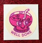 Vintage Matte CTP 1977 77 Scratch And Sniff Sticker Fruit Punch Strong Scent