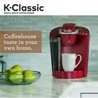 Classic Single Serve Pod Coffee Maker 2 Hr Auto Off Brews in Less Than 1 Minute