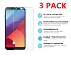 3 Pack Premium Tempered Glass Screen Protector Guard For LG G6