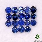 Natural Blue Sapphire Round Cut 2 mm Lot 18 Pcs 084 Cts Faceted Loose Gemstones