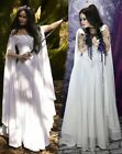 Women Medieval Sexy Off Shoulder Long Dress Vintage Gothic Gown Plus Max Cosplay