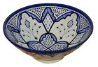 Moroccan Ceramic Plate Bowl Pottery Spanish Salad Pasta Bowl 12inches Large Dish