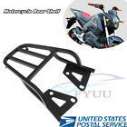 1X Black Metal Motorbike Rear Shelf Refitted Box Tail Fin Luggage Rack Structure