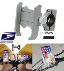 Universal Phone Bracket Silver Aluminum Alloy For Motorcycle Scooter Moped USA