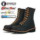 ROCKROOSTER Mens Work Boots Steel Toecap Anti Puncture Logger Boots Safety Shoe