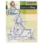 PENNY BLACK RUBBER STAMPS SLAPSTICK CLING THE ARTIST NEW cling STAMP