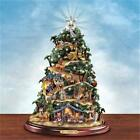 THOMAS KINKADE Lighted NATIVITY Christmas Tree MUSICAL NEW
