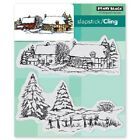 PENNY BLACK RUBBER STAMPS SLAPSTICK CLING SNOW COVERED NEW cling STAMP