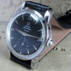 Mens 1956 Omega Seamaster Automatic Stainless Black Dial 17j Vintage Swiss Watch