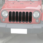 7PCS Clip on Front Grille Inserts Replacement for Jeep Wrangler JK JKU 2007 2017