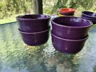 set 4 GUSTO BOWLS mulberry purple HOMER LAUGHLIN FIESTA WARE 23 OZ. NEW