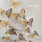 12Pcs 3D Butterfly Wall Decals Stickers Decorations 3D Hollow Out Home Decor