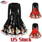 Womens Christmas Dress Vintage Design Ladies A Line Dresses Party Evenings US