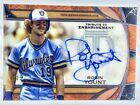2019 Topps Tribute Robin Yount On-Card Auto Jersey# 19 25 Orange, Brewers