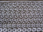 8 3 4 YDS SCALLOPED WHITE BRIDAL FLORAL RAYON VENISE LACE EDGE