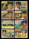 LOT OF 93 DIFFERENT 1956 TOPPS BASEBALL CARDS PARTIAL SET GOOD VG GMCARDS