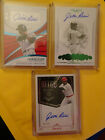 Jim Rice 2018 NT SILVER, Flawless EMERALD & Immaculate 3 Card Auto Lot #d 3 5