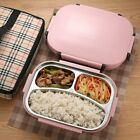 Portable Stainless Steel Bento Lunch Box Container Leak Proof Food Case for Kids
