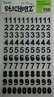 Black Holographic Numbers Stickers 93 Pcs Darice Free Shipping NIP