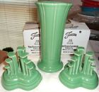 3 Pc SET MEADOW Fiesta Tripod Pyramid Candle Holders & 8