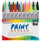 Art Supply 18 Color Set Extra Fine Point Tip Oil Based Paint Pen Markers Best