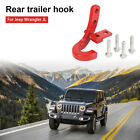 1pcs Red Left Rear Hook Tow Bumper Trailer Hitch for Jeep Wrangler JL 2018-2019