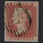 GB QV 1841 1d RED BROWN PLATE 121 QF SG8 FU 4 MARGINS LONDON NO11 C35