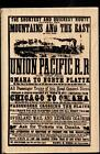 STAMPENDOUS rubber stamp RAILROAD POSTER wood mounted Travel
