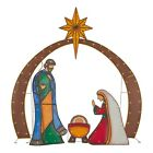 Holiday Time Light Up LED Metal Look Nativity Outdoor Christmas Decor 4 Piece