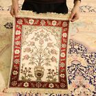 Clearance 15x2 Vase Design Area Rugs Hand knotted Parlor Silk Carpets 117AB