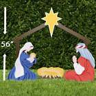 Outdoor Christmas Nativity Set Holy Family Yard DecorationStandard Color