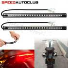 2X Flexible 48 LED Motorcycle Integrated Strip Brake Turn Signal Lamp Tail Light