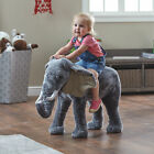 Elephant Ride On 38in Oversized Standing Stuffed Animal Kids Children Play Toy