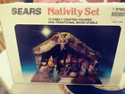 Vintage Sears Nativity Set Made In Italy 10 Crafted Figures