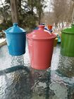 FIESTA WARE large CANISTER CROCK LID flamingo pink NEW