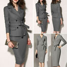 Womens Long Sleeve Business Office Work Formal Party Bodycon Sheath Pencil Dress