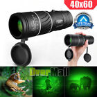 Day Night 40X60 Monocular BAK 4 HD High Power Hunting Hiking Camping Telescope