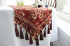 Traditional Floral Design Table Runner with Tassels Embroidery Print Table Runn