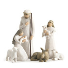 6 Piece Set Willow Tree Nativity Sculpted Hand Painted Nativity Figures Senti