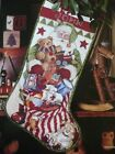 OPENING HIS PACK CHRISTMAS STOCKING CROSS STITCH PATTERN - NANCY ROSSI