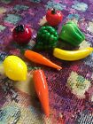 Murano Style Life Size Glass Fruit Vegetable Lot Of 8 + 3